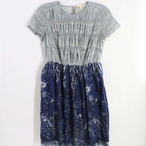 Mimi & Daphne Blue Ruched Dress